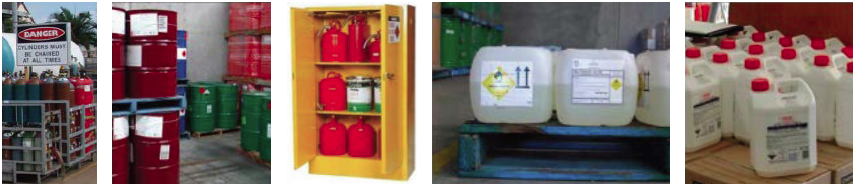 Packaged hazardous chemicals