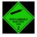 Nonflammable gas non toxic gas
