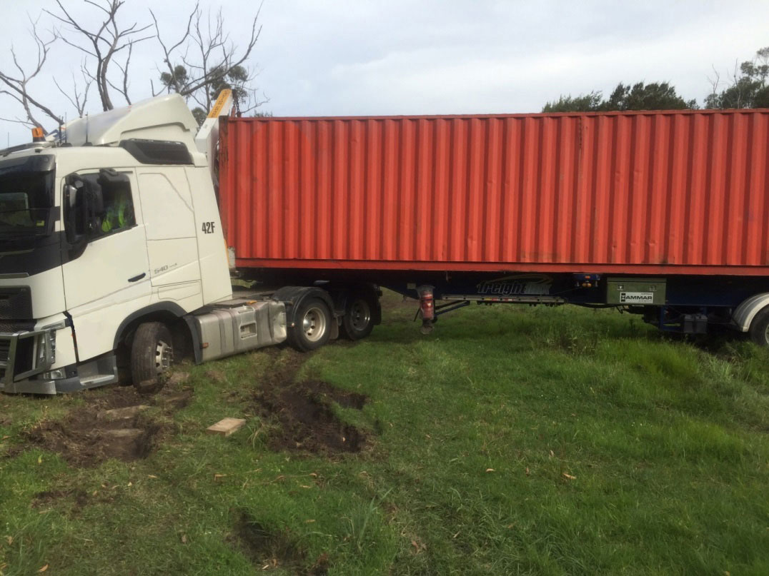Image of road freight vehicle accident