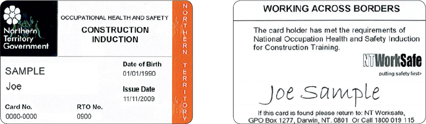 Northern Territory card
