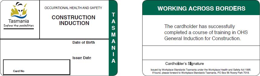 Tasmania card