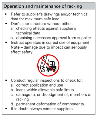 Figure 2: Example of supplier's operating instruction sign.