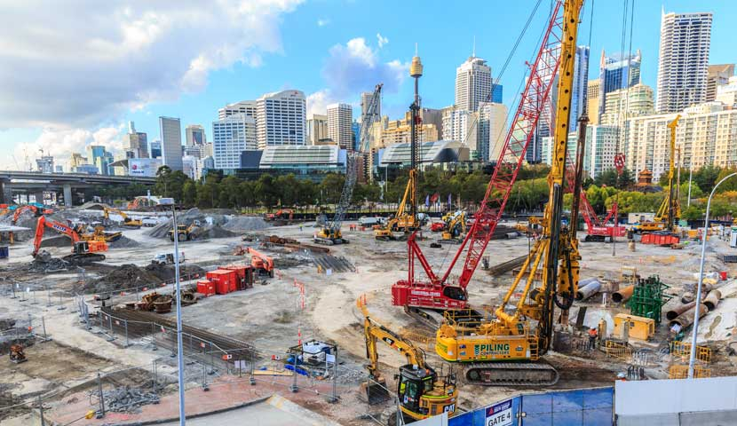 Sydney construction site