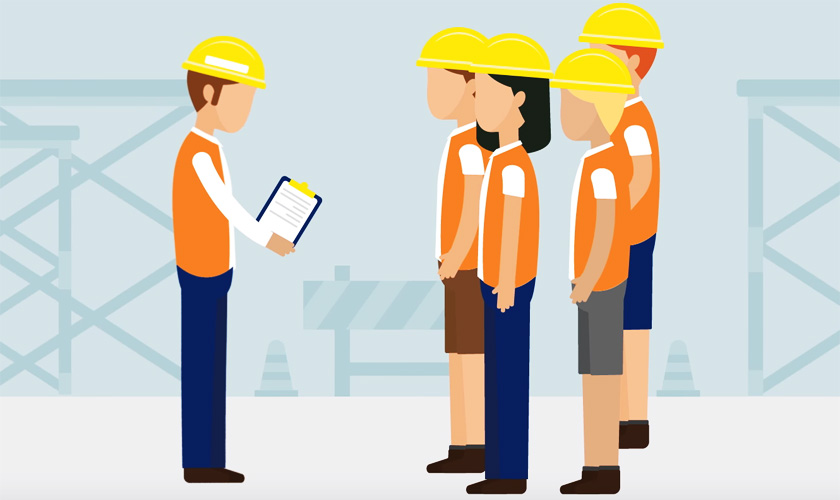 Cartoon of construction workers
