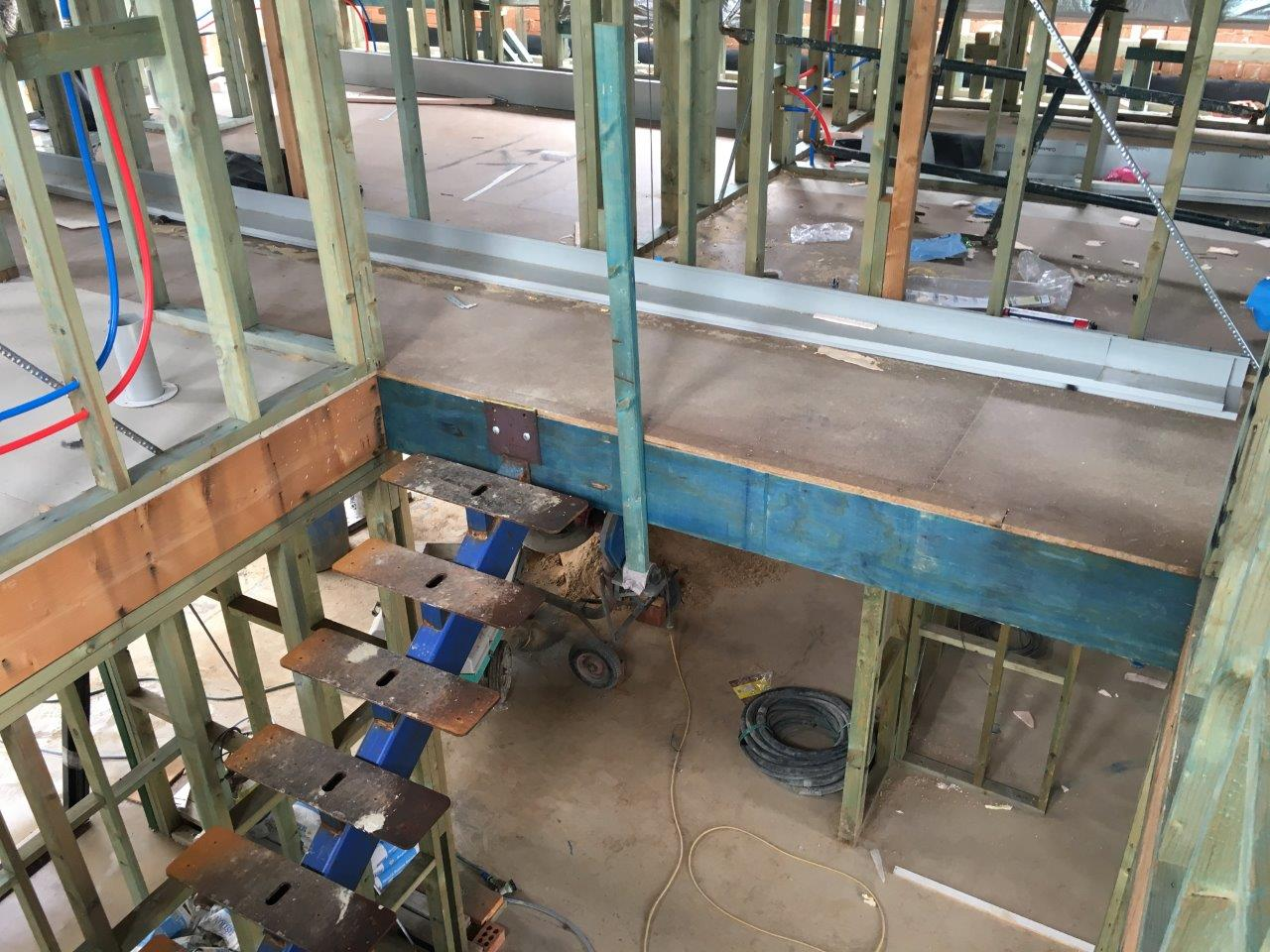 Image: View of the stair void and access stairs.