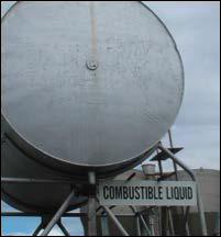 Combustible liquids in tanks
