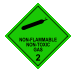 Nonflammable gas non toxic gas