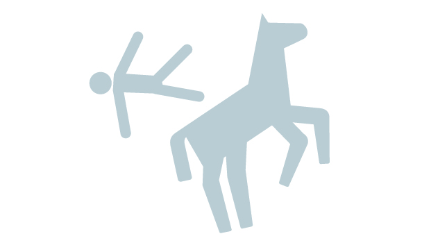 Icon of person falling from horse