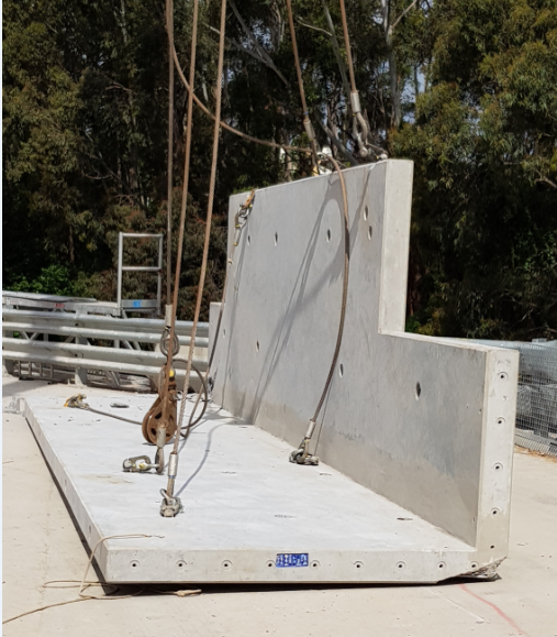 Image: A prefabricated concrete panel that dropped during installation.