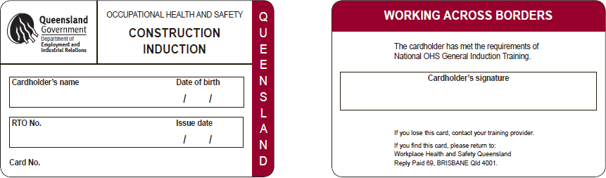 Queensland white card