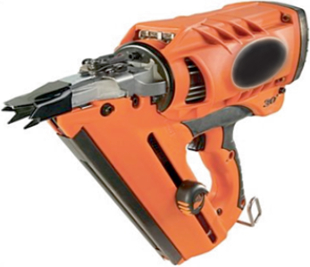 This image is of a typical nail gun