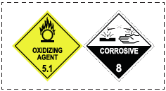 Information placard for hazardous chemicals stored