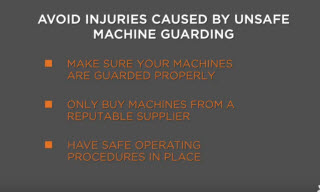 A list of items to remember when guarding machines