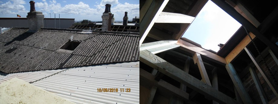 IIR Fall through asbestos roof 100918