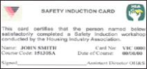 HIA induction card front