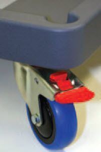 Figure 3 - A multi-directional wheel with braking mechanism