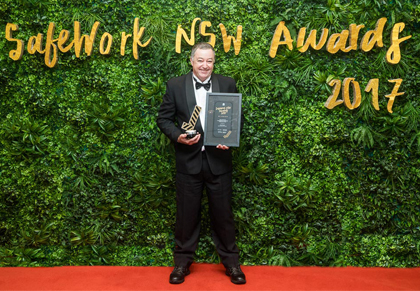 John Pearce at SafeWork NSW Awards 2017