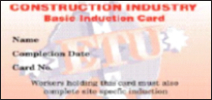 ETU induction card front