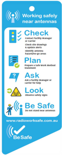 A safety information pamphlet produced by RadioWorkSafe.
