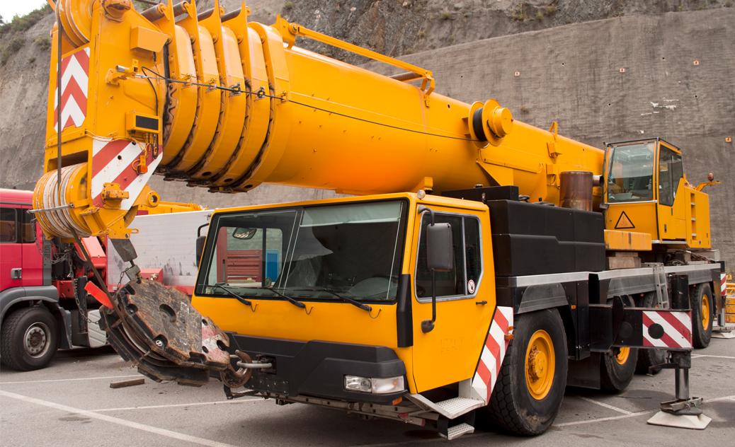 A mobile crane