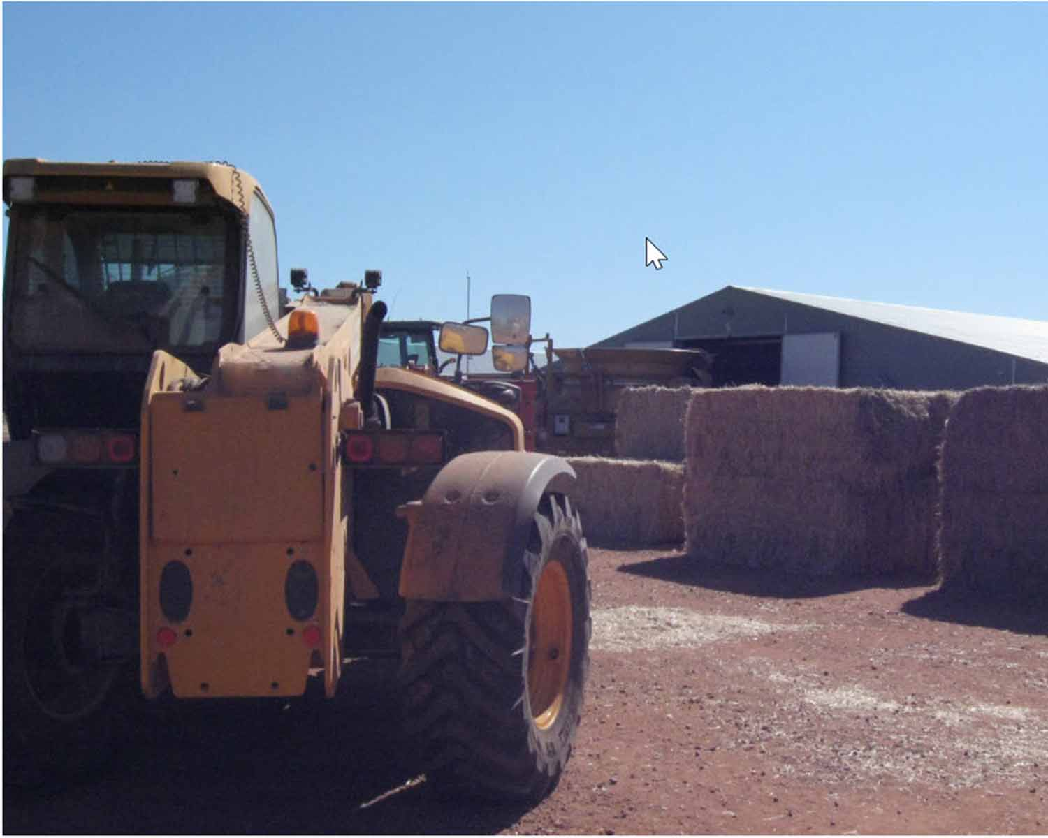 Location and telehandler involved in the incident
