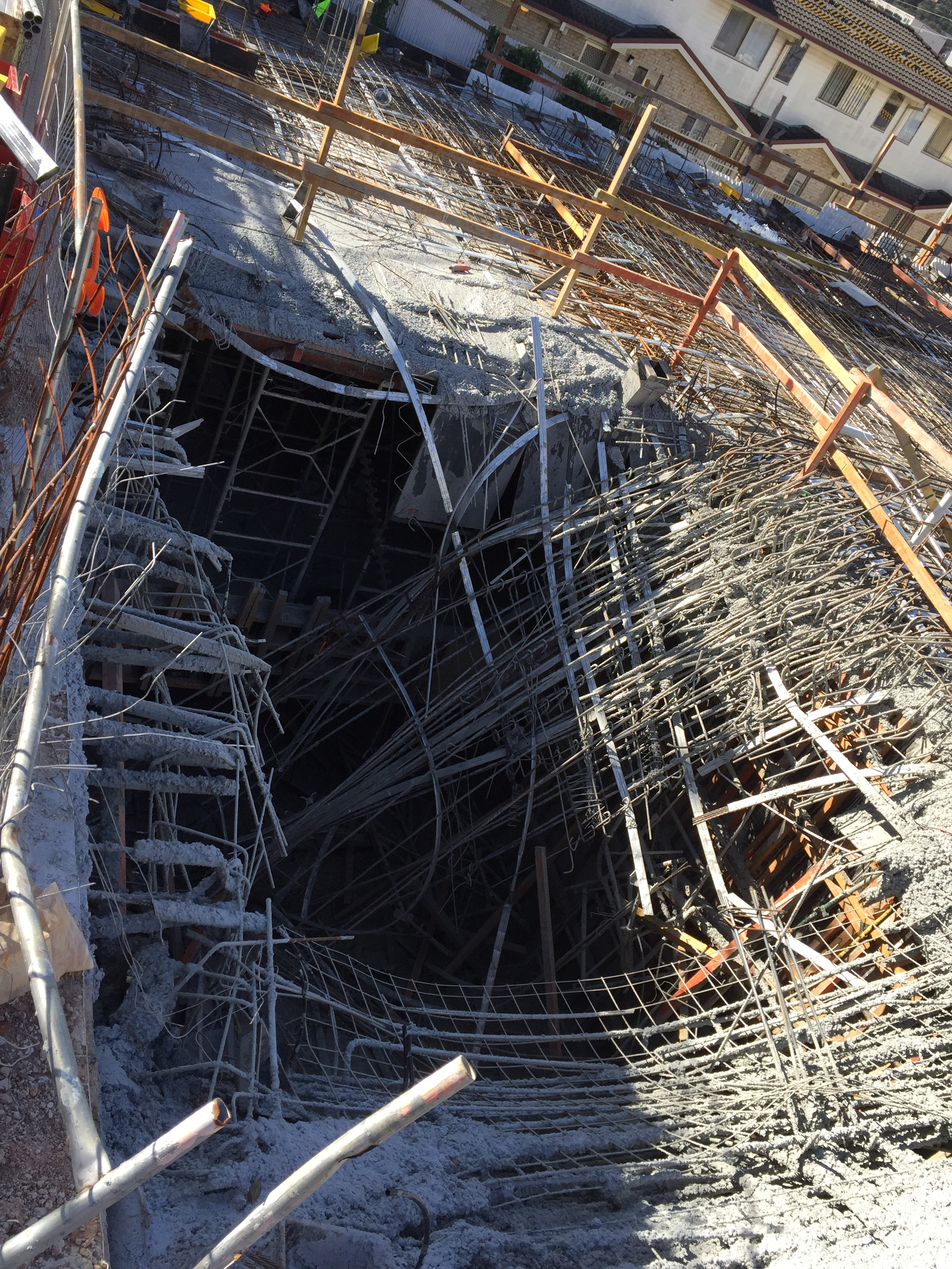 Image: Construction site showing where the collapse occurred.