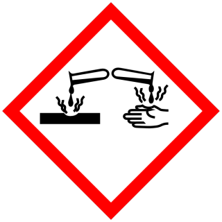 Corrosive substance pictogram