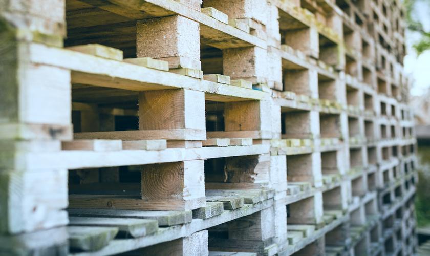 Pellets in a warehouse